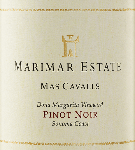 The grapes for the complex, grape varietal Mas Cavalls Pinot Noir from Marimar Estate grow in the single location Doña Margarita Vineyard in the American wine-growing region Sonoma Coast.  In the glass, this wine shimmers in a deep ruby red with garnet red highlights. The seductive bouquet is carried by intense aromas of ripe blueberries, blackcurrants and raspberry jam - accompanied by the fruity aromas of terroir-typical mineral notes and spicy tones.  On the palate, this American red wine presents itself with a round, multi-faceted body. The aromatic fruit fullness balances very well with the spiciness and the perfectly integrated, firm tannin structure. This wine finishes with a wonderful length and elegance.  Vinification of Marimar Mas Cavalls Pinot Noir The Pinot Noir grapes for this red wine are harvested by hand in the California cultivation area Sonoma. Once the harvested material has arrived in the wine cellar of Marimar, it is only slightly squeezed and fermented with natural environmental yeasts in the stainless steel tank. After the fermentation is complete, this wine is aged in premium wood barrels for 12 months (49% new wood). After maturing in oak wood, this red wine is poured onto the bottle unscented and unfiltered and remains on the bottle for a longer period of time before it leaves the winery.  Food recommendation for Mas Cavalls Pinot Noir Marimar Serve this dry red wine from the USA with roast beef in a herb coat and swirled potatoes, mushroom pan dishes, wild boar ragout with noodles and cranberries or with selected terrines and pies.  Awards for Pinot Noir Marimar Mas Cavalls Robert M. Parker - The Wine Advoate: 90 points for 2013