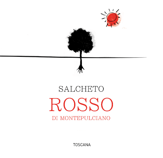 The Vino Rosso of Salcheto from the Italian wine region DOC Rossodi Montepulciano in Tuscany is a harmonious, expressive and uncomplicated red wine cuvée vinified from the Sangiovese, Canaiolo and Merlot grape varieties. In the glass, this wine has a rich cherry red with ruby red highlights. The nose is enchanted by intense aromas of dark berries - especially blackberries - juicy cherries and fine notes of spices. On the palate, this Italian red wine convinces with a subtle acidity structure that harmonizes wonderfully with the aromas of the nose. The tannins are perfectly integrated into the body and accompany you to the pleasantly long finale. Vinification ofthe SalchetoVino Rossodi Montepulciano The grapes for this red wine grow on the youngest vineyard of the Montepulciano winery. Once the grapes have arrived in the wine cellar of Salcheto, the grapes are gently pressed and transferred to stainless steel tanks for fermentation. After the fermentation process has been completed, this wine will remain in steel for 4 months. After bottling, this red wine still rounds off harmoniously for 3 months on the bottle before this wine leaves the winery. Food recommendation for the Vino Rosso Salcheto Montepulciano Enjoy this dry red wine from Italy with all kinds of dishes of Italian cuisine - with classic pasta in tomato sauce or pizza salami.
