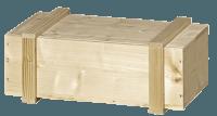 2er Wein-Holzkiste mit Schiebedeckel natur mit Leisten