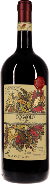 The Dogajolo Toscano Rosso from Carpineto, now also in the impressive Magnum bottle. Find out more in the expertise of Dogajolo Rosso.
