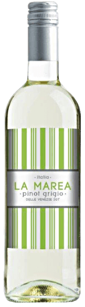 The Pinot Grigio del Veneto IGT by La Marea appears in the glass in a light yellow, which is interspersed with greenish reflections. The bouquet of this white wine from Italy unfolds fresh aromas of citrus fruits and a hint of sweet almond. These notes also continue on the palate. The La Marea Pinot Grigio leaves a fresh impression with its crisp acidity. Food recommendation for the Pinot Grigio del Veneto IGT from La Marea Enjoy this dry white wine as an aperitif, with couscous with salmon or mozzarella with melon and ham.
