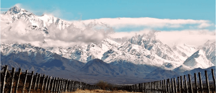 Die Anden bei Los Chacayas in Agentinien