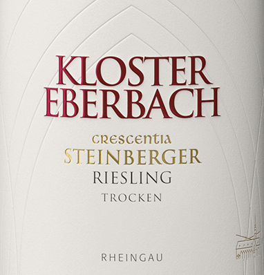 The Steinberger Riesling Crescentia from Kloster Eberbach is an outstanding white wine from the first vineyard in the German wine-growing region Rheingau. In the glass this wine captivates with a clear straw yellow and delicate gold reflexes. The bouquet is dominated by a fresh aroma of citrus fruits and juicy peach - accompanied by herbaceous notes and mineral hints. On the palate this German white wine inspires with a fine juicy characteristic, which is enveloped by a very fine acidity, mineral notes and vegetable spice. This white wine has a very elegant and harmonious style and finishes with a long finish. Vinification of the Steinberger Riesling Crescentia Eberbach After the careful harvest of the Riesling grapes, they are brought to the wine cellar of Kloster Eberbach. After gentle pressing and separation of the berry skins and grape seeds from the juice, the must is prepared for alcoholic fermentation. 50% of this wine matures in stainless steel tanks - the other 50% in oak barrels with a volume of 1200 liters and 2400 liters. Food recommendation for the Kloster Eberbach Crescentia Steinberger Riesling Enjoy this dry white wine from Germany with fresh salads, smoked salmon, oysters, seafood and cream cheese.