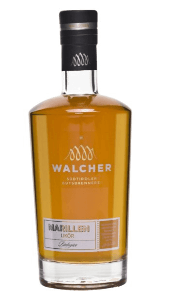 The apricot liqueur from Walcher presents the complete aroma of apricots and is the most famous liqueur in the country. The Walcher distillery is located near Bolzano, where a mild and Mediterranean climate prevails. Summers are hot and winters mild, which means optimal conditions for fruit trees to produce fully ripe fruits. Production of the apricot liqueur from Walcher This apricot liqueur is made exclusively from hand-picked and fully ripe organic apricots. This ensures the intense fruit taste of this South Tyrolean spirit. Serving recommendation for the apricot liqueur from Walcher Enjoy this liqueur pure, for example as a digestive at a temperature of 8 ° Celsius.