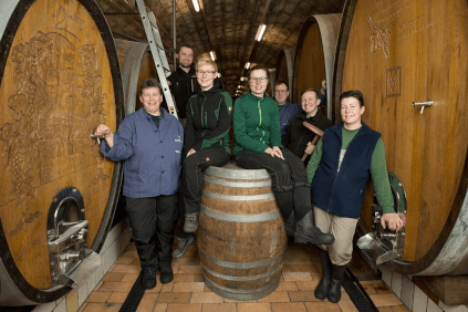 The cellar team of the winegrowers' association