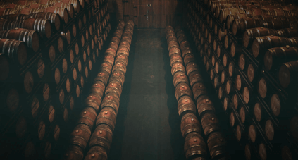 Some Torres wines age in barrel
