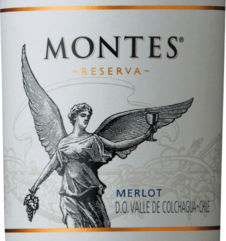The Merlot Reserva of Montes is a wonderful red wine cuvée from the grape varieties Merlot (85%) and Cabernet Sauvignon (15%). The colour of this Chilean wine shines in a rich purple red with violet reflections in the glass. The bouquet reveals strong aromas of juicy raspberries, ripe blueberries and fresh currants. Add a subtle hint of mocha chocolate and delicate vanilla tones. On the palate, this red wine delights with its very juicy and full-bodied personality. The fresh spices - thanks to the wood insert - harmonize perfectly with the berry fruit nuances - especially plum sauce comes to the fore. The fruit acid is lively and the fine tannins are wonderfully integrated. The spicy reverberation is balanced, lively and long-lasting. Vinification of the Merlots Reserva Montes Grape varieties grow in the beautiful Valle de Colchagua. The ripe grapes are fermented at a controlled temperature in a stainless steel tank. This is followed by ageing for six months in French oak barrels. Only before bottling is this wine refined with 15% Cabernet Sauvignon. Food recommendation for the Montes Merlot Reserva Enjoy this dry red wine from Chile with juicy steaks, lamb chops with rosemary garlic marinade or with risotto with mushrooms.