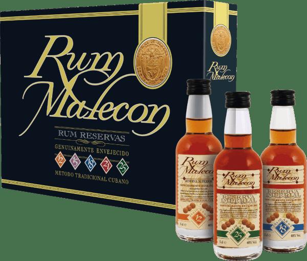 Rum Miniaturenset 5 x 0,05 l - Rum Malecon