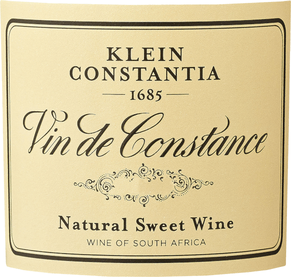This dessert wine flatters the eye with a shiny golden yellow. The first nose of Klein Constantia's Vin de Constance impresses with aromas of kumquats, dried fruit and grapefruit. The fruity notes of the bouquet are accompanied by notes of cask ageing such as gingerbread spice, roasted almond and roasted hazelnut. The Vin de Constance can be described as exceptionally fruity and velvety, as it has been vinified with a wonderfully sweet taste profile. This creamy dessert wine is impressive and multi-layered on the palate. Thanks to its vital fruit acidity, the Vin de Constance is fantastically fresh and lively on the palate. The finale of this excellent maturable dessert wine from the Coastal Region wine-growing region, more precisely from Cape Town, finally captivates with remarkable reverberation. Vinification of the Little Constantia Vin de Constance This dessert wine clearly focuses on one grape variety, namely Yellow Muscat. For this exceptionally powerful varietal wine from Klein Constantia, only the best harvested material was brought in. After harvesting, the grapes immediately reach the winery. Here you are sorted and carefully ground. Fermentation is then carried out in the stainless steel tank at controlled temperatures. After the end of the fermentation, this sweet wine is aged for 3 years in barrels - a combination of new French and Hungarian oak barrels, and barrels of French acacia. This is followed by another 6 months in the steel tank before this dessert wine is filled onto the bottle. Food recommendation for the Vin de Constance Klein Constantia This dessert wine from South Africa should best be enjoyed moderately chilled at 11-13°C. It is perfect as an accompanying wine with banana trifle in the glass, blackberry-cream dessert or coconut kephir cream. Awards for the Vin de Constance by Klein Constantia Wine Advocate - Robert M. Parker - 96 points for 2013