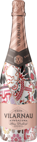 The Cava Brut Reserva Rosado of Vilarnau from the Spanish wine region of Catalonia is vinified from the grape varieties Trepat (85%) and Pinot Noir (15%) - a wonderfully elegant and juicy cava. In the glass, this sparkling wine shines in a bright raspberry pink with pink shades. The pearl layer rises in fine, persistent pearl cords. The powerful bouquet is dominated by ripe red fruits - especially red currant, raspberry and cherries. On the palate, too, the wonderfully juicy fruit fullness is presented and is accompanied by hints of brioche. The balance between the very subtle sweetness and the fresh acidity is perfectly balanced. Vinification of VilarnauCava Brut Reserva Rosado Barcelona The harvest for the grapes (Trepat and Pinot Noir) starts in September. Once the harvested material has arrived in the Vilarnau wine cellar, the mash is first fermented in stainless steel tanks. Then begins the second, traditional bottle fermentation. This wine is aged for at least 9 months in bottle. Finally, this cava is degorged and can leave the Vilarnau vineyard. Food recommendation for the Barcelona Rosado Brut Reserva Cava Vilarnau This sparkling wine from Spain is a wonderfully refreshing aperitif. Or pass this cava to spicy tapas variations and Italian pizza classics.
