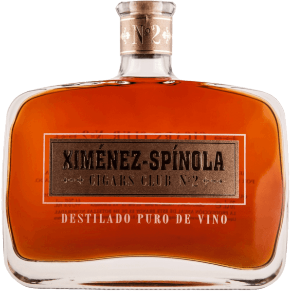 The Cigars Club No. 2 by Ximénez-Spinola is amber in the glass with ruby red reflections, unfolding a mild aromatic intensity, which enchants with the aromas of raisins and prunes. This Spanish brandy aged in American oak barrels and is present on the palate with a persistent wood note. Cigar recommendation for Cigars Club No. 2 by Ximénez-Spinola Flor De Cano Selectos Flor De Cano Petit Coronas H. Upmann Nº2 H. Upmann Magnum 50 / Magnum 46 H. Upmann Sir Winston H. Upmann Petit Coronas/Half Corona H. Upmann Coronas Junior Tubo / Major Tubo H. Upmann Epicures La Gloria Cubana Medal D´Or Nº1 / Nº2 / Nº3 / Nº4 Montecristo Open Punch Punch Petit Coronas/Coronations Quintero Favoritos Quintero Breva Quintero Londres Extra Romeo Y Julieta Romeo Y Julieta Churchills Romeo Y Julieta Short / Petite/Wide Churchills Romeo Y Julieta Belicosos Romeo Y Julieta Exhibición Nº3 Romeo Y Julieta Cazadores Romeo Y Julieta Cedros De Luxe Nº2 Coronas Romeo Y Julieta Cedros De Luxe Nº3 Petit Coronas Romeo Y Julieta Romeo Nº1 / Nº2 / Nº3 Tubes Romeo Y Julieta Coronitas En Cedro Romeo Y Julieta Petit Princess Romeo Y Julieta Julieta / Pettit Julieta Sancho Panza Belicosos Sancho Panza Sanchos Sancho Panza Coronas Giant Sancho Panza Molinos Sancho Panza Non Plus Trinidad Robustos Extra Trinidad Coloniales Trinidad Fundadores Trinidad Reyes Cohiba