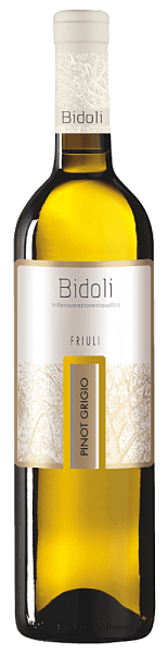 The Pinot Grigio Grave del Friuli by Bidoli presents itself with a light yellow and greenish reflections in the glass. The bouquet of this Italian Pinot Grigios is reminiscent of a fruit cocktail with the wonderful aromas of citrus fruits, peaches, apricots and melons. This white wine convinces on the palate with its full-bodied and a powerful, lively and mineral impression. This wine is rounded off by an elegant finale. Food recommendation for the Pinot Grigio of Bidoli Enjoy this dry white wine with light soups, such as a zucchini foam soup, salmon rolls with spinach and cream cheese or with poultry skewers.