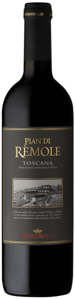 The Pian di Rèmole Rosso from Frescobaldi is produced in the historic vineyard Villa Rèmole. This Tuscan red wine is presented in a glass in a shiny purple. On the nose opens a very fruity bouquet with notes of blueberry and sour cherry jam, followed by spicy black pepper and hints of balsamic sage and eucalyptus. In taste, the Pian di Rèmole Rosso presents itself with beautiful freshness, pleasantly soft and balanced, of good drinkability, the short ageing in the wood lends structure and harmony. Long finish with beautiful, round reverberation. Production of the Pian di Rèmole Rosso by Frescobaldi This pleasant red wine from northern Tuscany is made predominantly from Sangiovese and a small portion of Cabernet Sauvignon. After a mash fermentation of 9 days, malolactic fermentation immediately follows. The wine is then aged in stainless steel in 5 months, briefly filled into wooden barrels, which promotes structure and harmony, then bottled and stored for another 2 months before being marketed. Recommendations for the Pian di Rèmole Rosso by Frescobaldi A versatile wine, perfect companion for various occasions, from a quick lunch to an aperitif. Goes very well with noodles in various variations, ideal also with sausage, main courses and poultry.