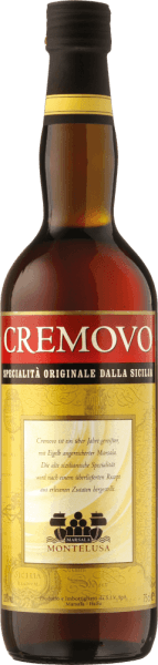 The Cremovo Vino Aromatizzato Marsala Fine DOC by Baglio Curatolo Arini in Sicily presents itself creamy soft and with spicy mild aromas as an ideal dessert wine or solo after a meal. Production of Cremovo Vino Aromatizzato Marsala Fine by Baglio Curatolo Arini The Marsala Fine is vinified from the grape varieties Inzolia, Grillo and Cataratto, the fermentation is stopped and strengthened with alcohol and matured for 1 year in a wooden barrel. To make it a cremovo, egg yolk and sugar are added to the Marsala Fine. This makes the liqueur wine thicker and darker. Recommendation for the Cremovo Enjoy this Sicilian classic for dessert or as a tasty aperitif.