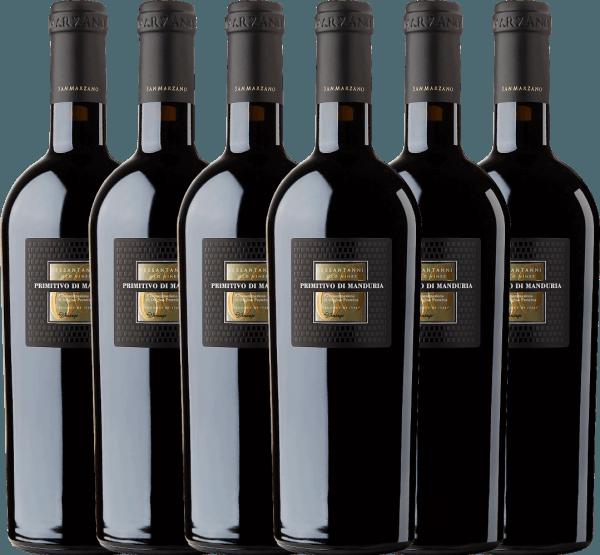 6er Vorteils-Weinpaket - Sessantanni Primitivo di Manduria DOC 2017 - Cantine San Marzano