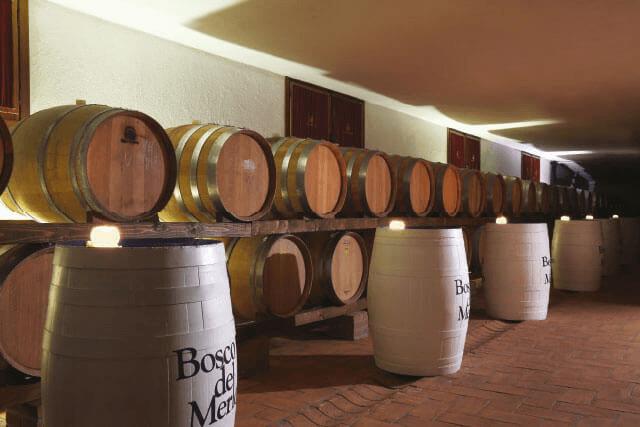 Im Weinkeller von Bosco del Merlo