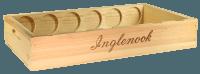 6er Weinkiste flach mit Branding ohne Deckel