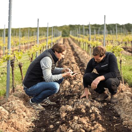 Checking the soil at Dreissigacker