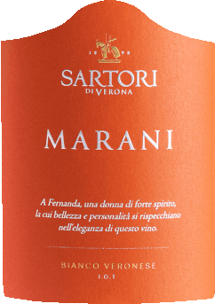 The Marani Bianco Veronese by Sartori di Verona from Veneto reveals a bright, platinum-yellow colour in the glass. This Sartori di Verona white wine reveals to the nose all kinds of blackcurrants, blueberries, blackberries and mulberries. The Sartori di Verona Marani Bianco Veronese impresses with its elegantly dry taste. It was placed on the bottle with only 6.8 grams of residual sugar. This is a real quality wine that stands out clearly from simpler qualities and so this Italian naturally enchants with the finest balance in all dryness. Taste does not necessarily require a lot of residual sugar. Balanced and complex, this creamy white wine is on the palate. Due to its succinct fruit acidity, the Marani Bianco Veronese is exceptionally fresh and lively on the palate. The final of this white wine from the Veneto wine-growing region captivates with a remarkable reverberation. The finish is also accompanied by mineral facets of limestone-dominated soils. Vinification of the Sartori di Verona Marani Bianco Veronese This balanced white wine from Italy is made from Garganega grape variety. In Veneto, the vines that produce the grapes for this wine grow on limestone soils. After harvesting, the grapes reach the press house in the fastest way. Here you will be sorted and carefully broken up. This is followed by fermentation in a stainless steel tank and large wood at controlled temperatures. After fermentation, the Marani Bianco Veronese is aged for 3 months in oak barrels. Food recommendation for the Marani Bianco Veronese by Sartori di Verona Enjoy this white wine from Italy cooled moderately at 11-13°C as a companion to chickpea curry, cabbage roulades or potato pan with salmon.