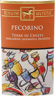 The pecorino by Tenuta Ulisse sparkles with a bright yellow and greenish shimmer in the glass. This Italian white wine flatters the nose with a fruity bouquet. Delicious and sweet aromas of candied citrus fruits, white peach, pineapple and papaya unfold. These refreshing notes are rounded off by a subtle saline nuance. This refreshing pecorino from Italy is present on the palate with an invigorating acidity and unfolds a great structure with lots of extract. The long-lasting reverberation of this wine is melting with balsamic notes. Vinification of the Pecorino Terre di Chieti of Ulisse The ULISSE line consists of grape varietal wines, which impressively prove what fantastic aromas and tastes arise when native grape varieties grow on the soil that is ideal for them. The origin of the pecorino grapes is uncertain, but they have been cultivated for centuries in the central regions of Italy, such as Abruzzo. The selective hand-picking takes place in 10 kilogram containers, cooled by dry ice, the grapes reach the winery undamaged. There they are selected again to ensure an absolutely healthy reading.  The grapes are cooled to -5°C by nitrogen within 3 minutes. This breaks down the cell structure and promotes extraction, which explains the intense, fascinating fresh-fruity aroma of this wine. The fermentation takes place temperature-controlled in stainless steel tanks with subsequent ageing in the same for a period of 3 months. Food recommendation for the Pecorino of Ulisse Enjoy this dry white wine with grilled or raw fish, shellfish, risotto or cheese. Awards for the Pecorino by Tenuta Ulisse Luca Maroni: 95 points for 2018 Luca Maroni: 96 points for 2016 International Wine Challenge: Gold for 2016 International Wine Challenge: Best Pecorino in Show for 2016 AWC Vienna: Silver for 2016 Gambero Rosso: 2 glasses (vintages 2015, 2014, 2013, 2012, 2010)