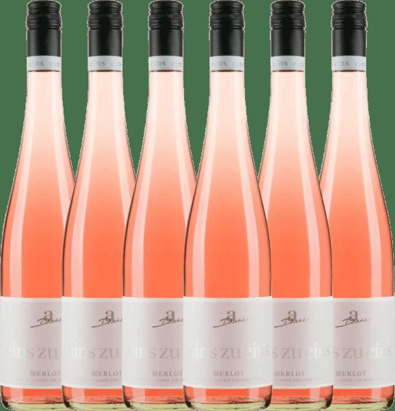 6er Vorteils-Weinpaket - Merlot Rosé eins zu eins feinherb 2020 - A. Diehl