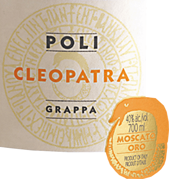 The Cleopatra Moscato Oro from Jacopo Poli is a harmonious, aromatic grappa distilled exclusively from the marc of the Moscato grape (100%). In the glass this grappa shimmers in a radiant gold with glittering reflections. Aromatic notes of blossoms and fresh citrus fruits with delicately spicy nuances of oak merge into a harmonious bouquet. On the palate this grappa convinces with purity and finesse. The full-bodied body is wonderfully balanced and is accompanied by a soft-silky texture with fine freshness and spice. Distillation of Jacopo Poli Moscato Oro Cleopatra The still fresh pomace is distilled in Crysopea - this is an antique model of a water bathlambic that works with vacuum. After the firing process, this grappa still has 75 vol%. By the addition of distilled water this grappa reaches an alcohol content of 40 Vol%. Afterwards this Grappa rests for a short time in oak wood barrels, in order to be filled then finally on the bottle. Serving suggestion for Cleopatra Moscato Oro Jacopo Poli Grappa This Grappa is a wonderful digestif, which can best reveal its variety of aromas at a serving temperature of 15 to 18 degrees Celsius. Or serve this grappa with fruit tart and shortbread biscuits.