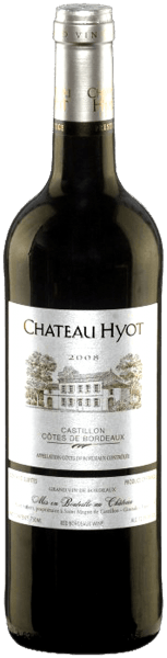 Château Hyot Côtes de Bordeaux Castillon by Château Hyot wraps the glass in a concentrated, dark crimson.The nose reflects the native terroir of the grapes in a particularly expressive way. Plenty of spicy and elegant fruit of plums, shade morals and forest berries with mineral nuances is accompanied by fine oak roasted aromas. On the palate it looks straight, enormously elegant, full and caged with a good balance of juicy fruit, ripe tannin, fresh acidity and spiciness. A fruity taste of plums leads to a balanced, long finish with delicate minerality and an aromatic hint of toast. Serve this delicious blend with grilled steaks, chops and juicy roasts (lamb, beef) with plenty of rosemary and gently braised tomatoes or mushrooms, but also with dishes with slightly oriental spice and spicy matured cheese.