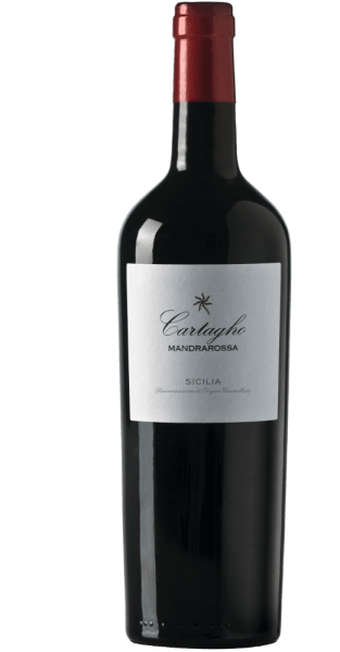 The Mandrarossa Cartagho appears in the glass in an intense red with violet shades and unfolds a wonderful, fruity bouquet full of blackberries and sour cherries, accompanied by a hint of herbs, undergrowth and Mediterranean spices. On thepalate of the Cartagho, intense aromas of dark berries, plums, dates and Mediterranean pine with perfectly integrated wood notes are noticeable. The minerality of this varietal red wine is animating, the drinking flow excellent, the tannins silky and yet present. Vinification of Mandrarossa Cartagho The flat, south-western vineyards are located in Torrenova, Menfi near Agrigento. The vines grow 150 meters above sea level on sandy soils. After the 8-10-day mash fermentation at 22-25°C, this Mandrarossa wine from the Nero d 'Avola grape variety matures for 12 months in barrique barrels and then for a further 4 months in bottle. Food recommendation for the Mandrarossa Cartagho Enjoy this dry red wine with fried meat, such as rump steak and lamb chops, or with grilled dishes and game. Awards for the Mandrarossa Cartagho Gambero Rosso: 3 glasses for 2017 Luca Maroni: 90 points for 2017 Falstaff: 90 points for 2016 Falstaff: 94 points for 2014