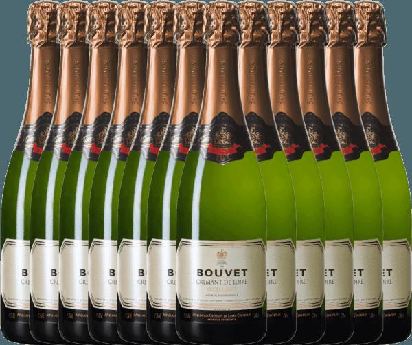 12er Vorteils-Weinpaket - Crémant Brut Blanc Excellence - Bouvet Ladubay