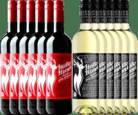 Preview: 12er Mixpaket - Bio-Glühwein rot & weiß - Heißer Hirsch