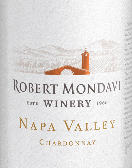 Robert Mondavi's Chardonnay Napa Valley grapes grow in the sunny California wine region. This grape varietal white wine delights with lively freshness and smooth texture. This wine shines in a clear straw yellow with light golden reflections. Intense, enticingly fruity aromas characterize the bouquet: crispy apple, juicy pear, ripe melon and fresh quinces - underlaid by white flowers, a hint of vanilla and some nutmeg. The aroma of the bouquet blends seamlessly into the palate, creating a round, lush, creamy mouthfeel that is perfectly balanced by a crisp acidity. The reverberation of elegant length completes this American white wine perfectly. Vinification of Mondavi Napa Valley Chardonnay Throughout September, the Chardonnay grapes for this white wine are harvested in the early morning hours. Once in the wine cellar, the harvested material is gently pressed. This wine is vinified and aged both in stainless steel tanks (20%) and in French oak wooden barrels (80%). With regular Bâtonnage (stirring of the yeast) this wine matures for 8 months on the fine yeast. Food recommendation for Napa Valley Robert Mondavi Chardonnay This dry white wine from the USA is a great accompaniment to fresh oysters with a splash of fresh lemon, homemade asparagus quiche or to all kinds of dishes of Thai cuisine.