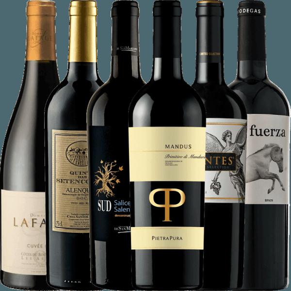 6er Winterpaket - trockene Rotweine für die kalte Jahreszeit