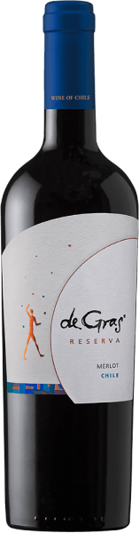 The pure De Gras Reserva Merlot by Viña Montgras is purple in the glass and impresses in the nose with a bouquet of mint, vanilla and plum and black cherry aromas. This impression continues on the palate, where it harmonizes with a well-integrated oak note and a complex texture. The finale is a long one. Food recommendation for the De Gras Reserva Merlot by Viña Montgras This Chilean red wine goes perfectly with grilled and fried meat, ragouts and cheese.