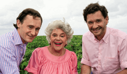 Philippine de Rothschild and her sons