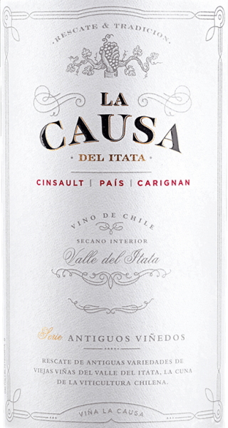 The Cinsault (60%), Pais (25%) and Carignan (15%) grapes for the blend of La Causagrow in the beautiful Valle del Itata - located in the Chilean wine region Valle Sur. This wine shimmers a dense ruby red with violet highlights in the glass. Fresh red and black berries (raspberry, blackberry and currant) combine with ripe plum and juicy shade morals to create a fragrantly fresh bouquet. Add a hint of spice and nuances of dried fruit. Very fruity, this Chilean red wine presents itself on the palate. The firm tannin gives this wine a strong structure and the vital acidity a wonderful freshness. With good excitement, this red wine concludes in a long finale. Vinification of the La Causa Blend The three different grape varieties for this red wine are harvested exclusively at optimum maturity. It starts with Cinsault, followed by Pais and most recently Carignan. In the wine cellar, all grapes are carefully selected and mashed. In the stainless steel tank, the mash is fermented for 7 days at a controlled temperature of 22 to 26 degrees Celsius. Finally, this wine is gently peeled off, blended and rests for 12 months in French oak barrels - of which 10% are new wood. Food recommendation for the Blend La Causa Enjoy this dry red wine from Chile for cozy barbecues with entrecotes, steaks and chops. Or hand this wine over to stews and baked empanadas.