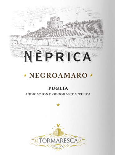 The Neprica Negroamaro Puglia IGT from Tormaresca lights ruby red in the glass. Cherry aromas and jam with delicate notes of violet and anisette unfold on the nose. On the palate, the Neprica Negroamaro presents itself soft and elegant, with very fine tannins, tasteful, with pleasant freshness and liveliness, which continue pleasantly in the finish. Vinification of Tormaresca Neprica Negroamaro Puglia IGT The Negroamaro grape is the most versatile autochthonous grape variety in Puglia and impresses in the area of Tormaresca above all with its harmnony and flavour. The grapesare harvested and then fermented in temperature-controlled stainless steel tanks at a maximum of 26°C for a period of 8 to 10 days. Malolactic fermentation is completed at the beginning of the winter, followed by ageing, only eight months in stainless steel tanks and then another four months in the bottle before it is placed on the market. Food recommendation for the Neprica Negroamaro Puglia IGT from Tormaresca We recommend this beautiful red wine from Puglia with typical dishes of the region from pasta to meat dishes, but also simply with pizza in a round with friends.