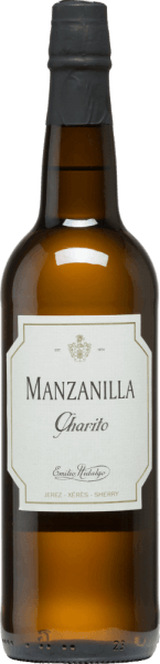 Emilio Hidalgo's Charito Manzanilla is a refreshing, dry sherry from the Polomino Fino grape variety (100%) In the glass, this wine shines in a bright straw yellow with glittering reflections. The nose enjoys fragrant notes of yellow stone fruits and nuts. On the palate, this sherry is light and elegant with a long reverberation. Vinification of Emilio HidalgoCharito Manzanilla The grapes harvested by hand are destemmed, gently pressed and the must produced therefrom is fermented in a temperature-controlled manner in a stainless steel tank. This young wine is then drawn off, sprayed on and placed in American oak barrels for the first ripening. The barrels are filled only to a certain extent (maximum 85%), so that the characteristic pile (a yeast layer) can develop, which seals the wine airtight and gives it the sherry-specific aroma. After maturation, this wine is transferred to the traditional Solera system, in which sherries of the same type are aged in barrels arranged one above the other for three to ten years. The oldest wines are stored in the lower barrels (Solera), while the youngest wines are stored in the upper rows (Criaderas). The sherry intended for sale is always removed from the lower barrels. In this case, however, only a small part (a maximum of one third) is removed and the removed part is then filled up by sherry from the upper rows. The whole principle continues to the uppermost barrels, where young wine, the Mosto, is added to the sherry. Food recommendation for the Manzanilla Charito byEmilio Hidalgo This dry sherry from Spain tastes best chilled and goes well with tapas, fish and seafood as an aperitif.