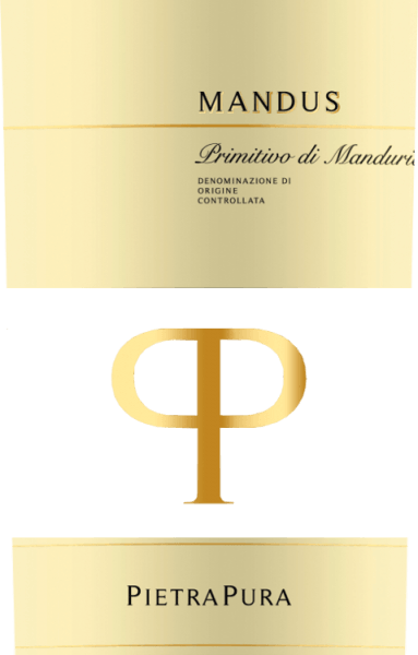 The colour of the beautifully structured Mandus Primitivo di Manduria from Pietra Pura is a dark cherry red. In the glass, this red wine from Italy smells very intensely of fruity sour cherries, plums and cassis, accented by light roasted notes. On the palate, the Mandus Primitivo is characterized by sweet tannins and a soft taste. A harmoniously integrated vanilla note and subtle wood nuances complete the taste. Vinification of the Mandus Primitivo di Manduria DOC Mandus by Pietra Pura The Pietra Pura line is the result of the collaboration between Rocca delle Macie, the Zingarelli family winery and the Terre di Sava winery in Puglia. The grapes of this pure Primitivo are harvested in the area of San Marzano. After fermentation at a controlled temperature, the red wine is gently pressed and separated from the peels and seeds. It then matures for a good four months in French oak barrels. Food recommendation for the Mandus Primitivo Serve Mandus Primitivo di Manduria from Pietra Pura at 16-18°C with meat sauces, game and hard cheese. This wine also goes well with eggplants baked with Parmesan.
