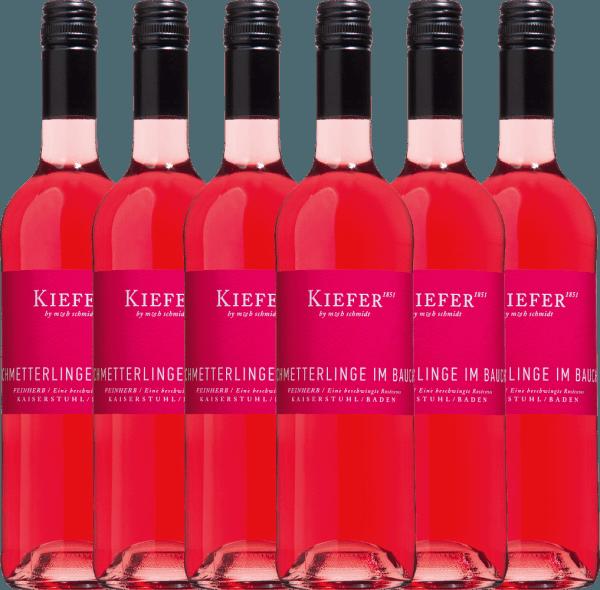 6er Vorteils-Weinpaket - Schmetterlinge im Bauch Rosé 2019 - Weingut Kiefer