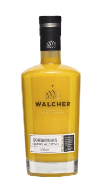 The Bombardino by Walcher is a rich liqueur based on eggs (it must not be called an egg liqueur!), with a distinct rum note and represents an absolute liqueur classic of the top class. Production of the egg-based Bombardino liqueur from Walcher This South Tyrolean speciality is made from fresh mountain milk, Caribbean rum and fresh egg yolk. Serving recommendation for the Bombardino by Walcher Enjoy this liqueur hot with a cream cap and cocoa powder.