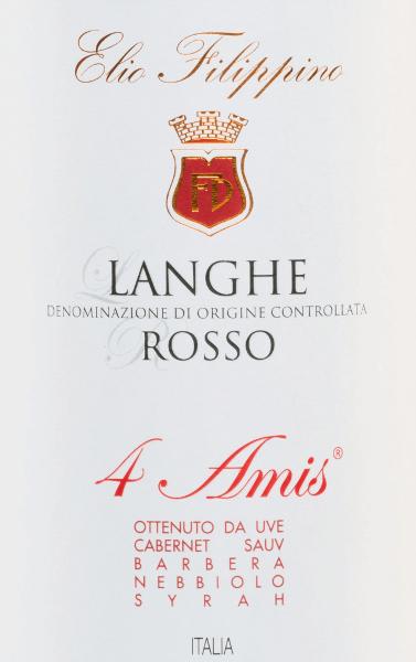 4 Amis Langhe Rosso DOC 2015 - Elio Filippino von Elio Filippino