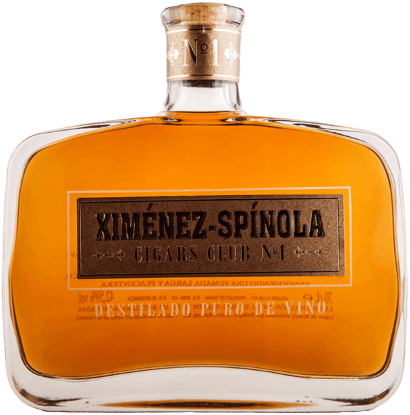 Cigars Club No. 1 by Ximénez-Spinola presents itself in golden yellow with amber reflections in the glass. This brandy unfolds its delicate aromatic intensity, which is carried by raisins and figs. This brandy aged in American oak barrels seduces with its soft impression on the palate and is rounded off by subtle wood and roasted aromas. Cigar recommendations for Cigars Club No. 1 by Ximénez-Spinola El Rey Del Mundo Choix Supreme El Rey Del Mundo Demi Cup Fonseca Nº1 Fonseca Cosacos Fonseca Delicias Fonseca Cadetes Guantanamera Cristales Tubo Guantanamera Compays Guantanamera Décimos Guantanamera Puritos Hoyo De Monterrey Epicure Especial Hoyo De Monterrey Epicure Nº1 Hoyo De Monterrey Petit Robustos Hoyo De Monterrey Double Coronas Hoyo De Monterrey Dex Dieux Hoyo De Monterrey Coronations Tubo Hoyo De Mointerrey Du Prince Hoyo De Monterrey Depute Hoyo De Monterrey Du Maire Rafael González Petit Coronas Rafael González Perlas Rafael González Extra Panels