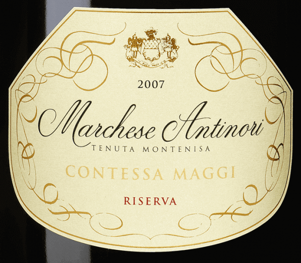 "The Marchese Antinori Contessa Maggi Riserva Franciacorta DOCG of Tenuta Montenisa of the Marchesi Antinori is dedicated to the Comtesse Camilla Maggi, wife of Conte Aimo, former owner of the Tenuta Montenisa. The Contessa Maggi Riserva Franciacorta DOCG shines in pale golden yellow with brilliant greenish reflections in the glass and a fine, creamy foam with very delicate perlage. The bouquet delights with inviting, intense aromas of ripe white fruits, rich and very appealing. Complex, balanced, elegant, full-bodied and of good structure, this very beautiful Riserva Franciacorta presents itself on the palate. Very long lasting and sustainable, harmonious finale. Vinification of the Marchese Antinori Contessa Maggi Riserva Franciacorta DOCG by Tenuta Montenisa The Spumante Riserva of the ""Millesimé"" line is vinified from Chardonnay and Pinot Noir  and represents the tradition of Franciacorta sparkling wines in their highest form.75% Chardonnay and 25% Pinot Noir undergo alcoholic fermentation in a stainless steel tank and in small barriques, followed by malolactic fermentation and ageing on the fine yeasts in the bottle for 60 months. Food recommendations for the Marchese Antinori Contessa Maggi Riserva Franciacorta DOCG from Tenuta Montenisa This elegant and refined Riserva Franciacorta goes particularly well with medium intensity pasta and risotto, with light meat, fish soups and fish in general."