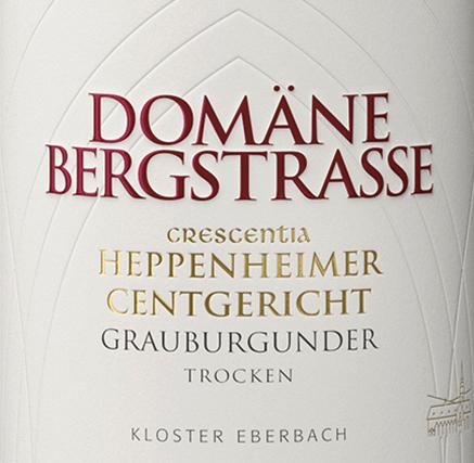 Heppenheimer Centgericht Grauburgunder Crescentia 2019 - Domäne Bergstraße - Kloster Eberbach von Weingut Kloster Eberbach