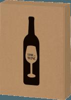 3 bottle gift box Time for Wine natural kraft paper