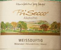 Preview: PriSecco weißduftig - Manufaktur Jörg Geiger