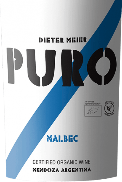 The Puro Malbec Mendoza by Dieter Meier is a pure red wine and presents itself in a deep ruby red with violet highlights. Aromatic notes of fresh berries unfold in the nose - especially raspberries and blackberries - juicy shade morals, noble plum and subtle hints of freshly ground coffee beans. On the palate, this red wine is powerful, but remains very pleasantly accessible. The aromas of the nose also appeared on the palate, especially plum. The gently ripened tannins are perfectly integrated into the structured body and lead to a long finish. Vinification of Puro Malbec by Dieter Meier In the Argentine wine region of Luján de Cuyo, the Malbec grapes grow on high vineyards.This altitude offers the grapes the advantage that the natural ripening process is delayed by the cool nights and the grapes for this red wine can reach their full ripeness. This creates a perfect harmony of alcohol, tannins, aromas and fresh acidity. These vineyards of Dieter Meier are cultivated exclusively under organic cultivation methods. The harvest for this red wine will take place at the end of March. After careful harvesting, the grapes are immediately brought into the wine cellar and fermented in a stainless steel tank at a controlled temperature (27 to 28 °C). Dieter Meier renounces the use of wood. The pure ageing in the stainless steel tank gives this wine its juicy, fresh and fruity character. Food recommendation for the Puro Malbec This dry red wine from Argentina goes wonderfully with juicy spicy roast beef in a herb coat, grilled meat skewers or with spicy pasta dishes and matured hard cheeses.