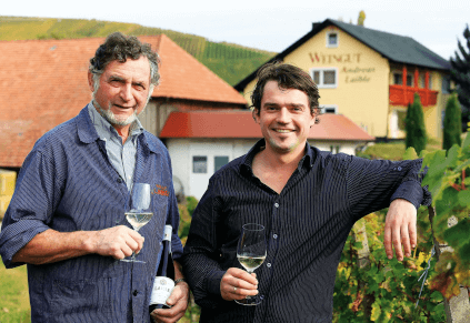 Vater und Sohn Andreas Laible