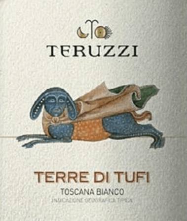 """Cultivated wine but not a bit out of the ordinary. Teruzzi's Terre di Tufi Toscana IGT reflects the passion for innovation and high quality in harmony with the tradition of Tuscan white wines. Teruzzi combined indigenous grape varieties with international grape varieties and were thus the creators of the first """"White Supertuscan"""". The elegant, enchanting Tuscan white wine Terre di Tufi is luminous, with intense straw yellow colour in the glass. On the nose an intense, rich bouquet unfolds with fragrances of quinces, apples, complex and long-lasting, in the background a pleasant woody note resonates. On the palate, the Terre di Tufi shows its flavour potential. Strong body, soft, full-bodied, pronounced character without having an aggressive effect, delicate roasted aromas in a long-lasting, sustainable finish. Vinification of Teruzzi Terre the Tufi The wine is made from carefully selected grapes from Vernaccia di San Gimignano, Chardonnay and Sauvignon, which grow on the estate's vineyards around San Gimignano, the city of a thousand towers, in the heart of Tuscany. After manual harvesting, the grapes are gently pressed and fermented at a controlled temperature with selected yeasts in the stainless steel tank. The wine is then aged for about 4 to 5 months in barriques, 30% of which are new barrels and the rest in the second run. This gives the Terre di Tufi its soft, supple body and harmonious fullness. Food and wine for the Terre di Tufi of Teruzzi Enjoy this Tuscan cult wine with tasty rice and pasta dishes, with fish and shellfish, fine white meat and tender fried red meat. Awards Mundus Vini - Silver IWC International Wine Competition - Bronze"""