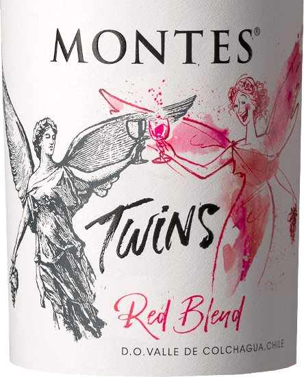 The deep red colour of Montes Twins Red Blend is reminiscent of a vividly sparkling ruby with a violet sheen. In the fruity nose, intense aromas of ripe red and black fruits such as blackberries, dark plums and black currants, as well as sweet spices (baking aromas) and caramel spread out in the background. The bouquet is underpinned with finely spiced nuances of barrique maturity such as oak, tobacco leaf, fresh coffee, vanilla and dark chocolate. On the palate this Chilean red wine is extremely soft, round and supple, but at the same time powerful, structured and full-bodied. The juicy fruit of the bouquet flatters the palate with the perceptible yet gently matured tannin. Thus this red wine flows with elegance and balance into a long finish, which expresses the balance of strength and melt, lively fruit, tannin and delicately integrated oak wood. Vinification of the Red Blend Montes Twins This red wine is made from the Cabernet Sauvignon (35%), Syrah (30%), Carménère (25%) and Tempranillo (10%) grape varieties. The grapes for Montes Twins Red Blend come from vineyards in Apalta and Marchigue. Once the grapes have reached their optimal maturity, they are carefully harvested by hand, strictly sorted and traditionally fermented on the skins under controlled temperature conditions. At the end of fermentation, about 50% of the wines are aged for twelve months in French oak barriques. Finally, all the batches are mixed with this wonderful red wine and bottled. Food recommendation for the Montes Twins Enjoy this dry red wine from Chile with juicy grilled cutlet, steak and entrecote up to roast beef and leg of lamb with herbs. This red wine also goes well with spicy (oriental) meat stews, meatless oven dishes with lots of herbs and pasta with gently braised tomato sauce.